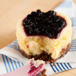 Miniature Cheesecake with Blueberries — Stock Photo