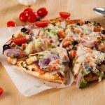 Vegetarian Pizza — Stock Photo