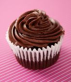 Simple Chocolate Cupcake — Stock Photo