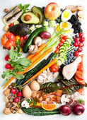 Assortment of Fresh Vegetables and Meats for Healthy Diet — Stock Photo