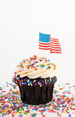 Independence Day Themed Cupcake — Stock Photo