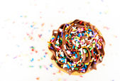 Festive Cupcake Frosting Top with Sprinkles — Стоковое фото