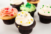 Assorted Festive Cupcakes — Stock Photo