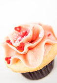 Vanilla Strawberry Cupcake — Stock fotografie