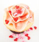 Vanilla Strawberry Cupcake — Stock Photo