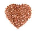 Hjärta friska raw röda quinua frön — Stockfoto