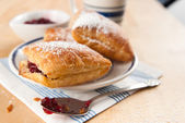 Puff Pastry Squares — Stock Photo