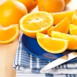 Sliced Fresh Juicy Navel Oranges — Stock Photo