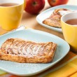 Afternoon Tea with Puff Pastries — Stock Photo