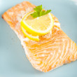 Stock Photo: Portion of Baked Wild Caught Salmon