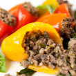 Stock Photo: Beef and vegetables Stuffed Mini Bell Peppers