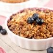 Stock Photo: Healthy Paleo Style Berry Cobbler for Dessert