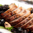 Pork Tenderloin with Cherry Sauce — Stock Photo