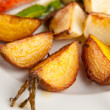 Root Vegetables Grilled in Butter with Sea Salt and Herbs — Stock Photo
