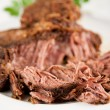 Stock Photo: Big Piece of Slow Cooked Grass Fed Organic Beef