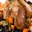 Stock Photo: Lamb Shank Slow Cooked with Vegetables and Wine