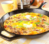 Eggs and Vegetable Frittata for Breakfast — Stock Photo