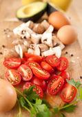 Ingredients for Vegetarian Omelete — Stock Photo