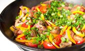 Various Sauteed Vegetables for Lunch — Stock Photo