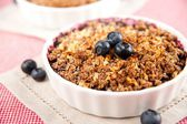 Healthy Paleo Style Berry Cobbler for Dessert — Stock Photo