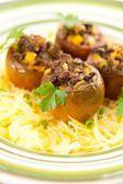 Ground Beef and Vegetables Stuffed Kumato Tomatoes — Stock Photo