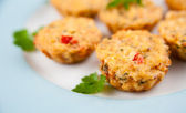Platter of Delicious Mini Crabcakes — Stock Photo