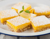 Gluten, Sugar, and Dairy Free Homemade Lemon Bar Cookies — Stock Photo