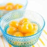 Bright Yellow Canned Rainier Cherries — Stock Photo