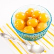 Bright Yellow Canned Rainier Cherries — Stock Photo #29146945