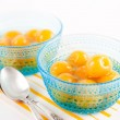 Stock Photo: Bright Yellow Canned Rainier Cherries