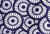 Pattern circular on cloth fabric. — Photo