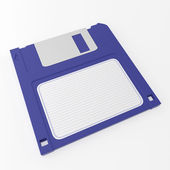 Blue floppy disk — Stock Photo