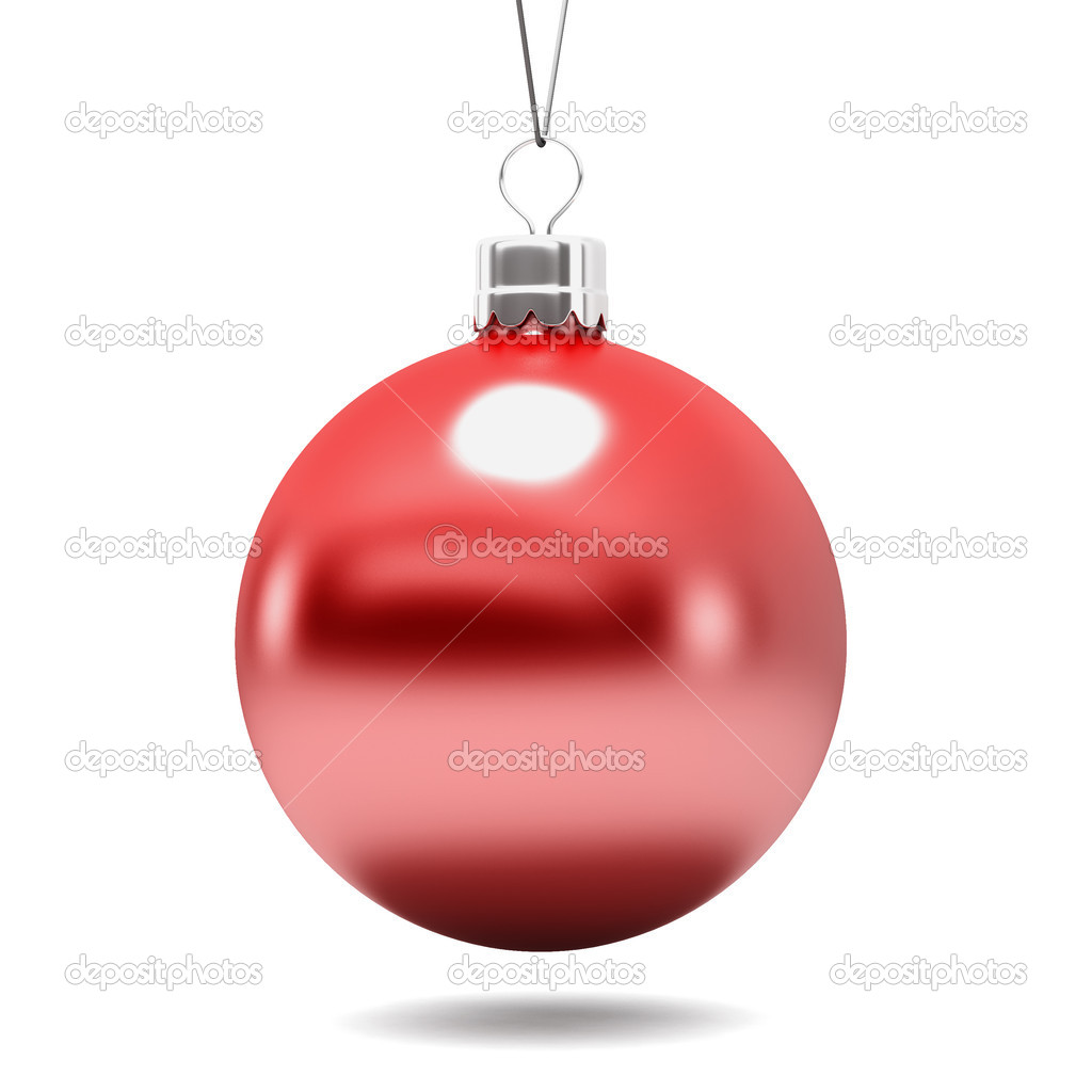Red Ball Toy : Christmas tree toy a red ball — stock photo rexi