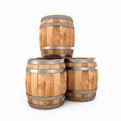Wooden barrels — Stock Photo