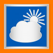 Weather icon cloud and sun — Stock Vector