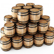 Stack of barrels — Stock Photo