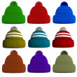 Set of knitted winter hats — Stock Photo #36785615