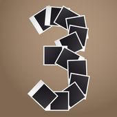 Figure three of Polaroid photos. — Stock Vector