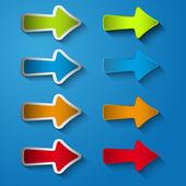 Set icon arrow right — Stock Vector