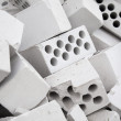 Stock Photo: Heap of silicate bricks