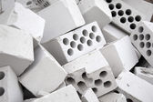 Heap of silicate bricks — Stock Photo