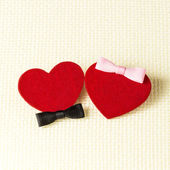 Man's and female hearts — Stock Photo