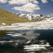 Mountain lake with ice floes in mountains — Stock Photo #49028391