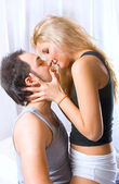 Lovely couple romancing — Stock Photo