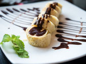 Banana roll with chocolate — Stock Photo