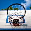 Stock Photo: Old basketball backboard