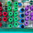 Stock Photo: Set of colorful empty blood sample tubes