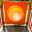 Colorful tunnel in a playground — Foto Stock