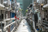 The back of crowded buildings in bangkok — Stock Photo