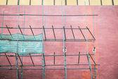 Empty scaffold for repairing a building wall — Foto de Stock